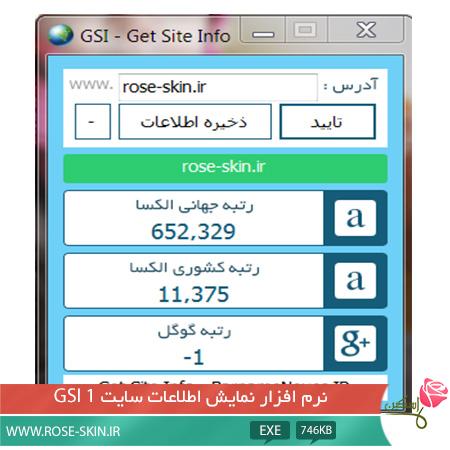 نرم افزار GSI1 - نمایش اطلاعات سایت
